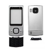 Front Cover Nokia 6700 Slide with keyboard Silver OEM