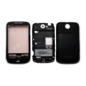 Front Cover HTC Wildfire Black with Volume Buttons, On/Off and Swap Frame OEM