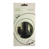 Car Charger HTC CC C300 Dual with Detachable Cable Micro USB 1000 mAh