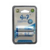 Rechargeable Battery Goop 800 mAh size AA Ni-CD 1.2V Τεμ. 2