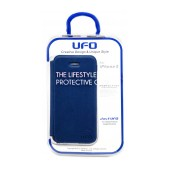 Book Case UFO for Apple iPhone SE/5/5S/5C Blue - Brown