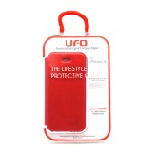 Book Case UFO for Apple iPhone SE/5/5S/5C Red - Pink