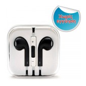 Hands Free D5 Stereo for Apple-Samsung-HTC-BlackBerry-LG 3.5 mm with Remote Black - White