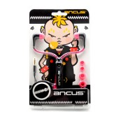 Hands Free Ancus in-Earbud Stereo 3.5 mm Black - Pink with Zipper Cable without Micrphone