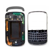 Front Cover BlackBerry Bold Touch 9900 with Jack Connector, Side Keys and Keyboard Black Original