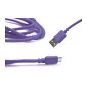 Data Cord Cable Ancus USB to Micro USB with Enhanced Plug-inn Purple