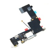 Plugin Connector Apple iPhone 5S with Microphone and Jack Connector White Original Swap