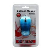Mobilis 1319 Wired Mouse 3 Button Blue (88*53*31mm)