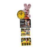 Wall Mounted Bunny Clock Disrlay Stand for Batteries