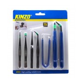 Set Tweezers Kinzo 7 Pieces