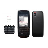 Front Cover Nokia Asha 300 with keyboard Black OEM