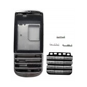 Front Cover Nokia Asha 300 with keyboard Silver OEM