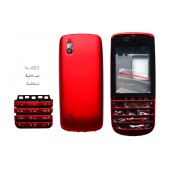 Front Cover Nokia Asha 300 with keyboard Red OEM