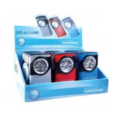 Grundig Aluminium Flashlight 3 Led with Batteries AAA in Various Colors