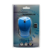 Mobilis Tiny Wireless Mouse 3 Button 800 DPI Black - Blue (91*56*30mm)