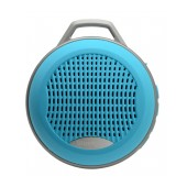 Mini Bluetooth Speaker Mobilis 3W Blue with Speakerphone, FM Radio and MP3 Player with Micro SD Mem
