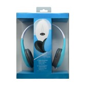 Drop Velvet Feel Stereo Headphone 3.5 mm Blue - White for mp3, mp4 and Sound Devices