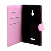 Book Case Ancus Teneo for Nokia XL Dual Pink