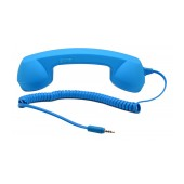 MsPhone Retro Headset 3.5 mm for all Mobile Phones Blue