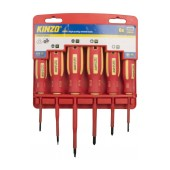 Screwdrive Kinzo 2010230 Set 6 Pcs Magnetic Red