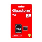 Flash Memory Card Gigastone MicroSDHC 2GB Class 2 with Adapter