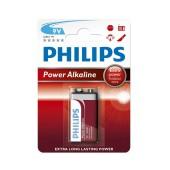Battery Power Alkaline Philips 6LR61 size 9V Psc. 1