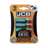 Rechargeable Battery JCB 1200 mAh size AA Ni-MH 1.2V Pcs. 4