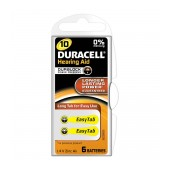 Hearing Aid Batteries Duracell A10 Zinc Air 1,4V Pcs. 6
