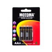 Battery Super Αlkaline Motoma LR03 size AAA 1.5V Τεμ. 4