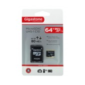 Flash Memory Card Gigastone MicroSDXC UHS-1 64GB C10 Professional Series with Adapter