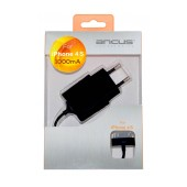 Travel Charger Ancus for Apple iPhone 4/4S 5V 1000 mAh compatible with all iOS updates