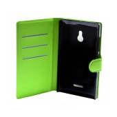 Book Case Ancus Teneo for Nokia XL Dual Green