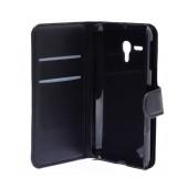 Book Case Ancus Teneo for Alcatel One Touch Pop D5 OT-5038D Black