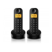 Dect/Gap Philips D1202B Duo Black with ECO+ mode
