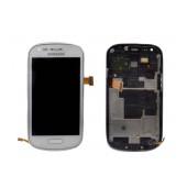 Original LCD & Digitizer Samsung i8200 Galaxy S3 mini VE ( S III Mini VE ) White GH97-15508A