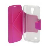 Book Case Ancus Classic for Samsung i9505/i9500 Galaxy S4 Fuchsia
