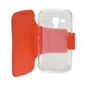 Book Case Ancus Classic for Samsung S7560/S7562/S7580/S7582 Orange