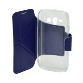 Book Case Ancus Classic for Samsung i8262D Galaxy Core Duos Blue