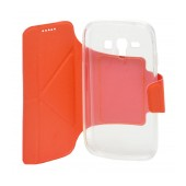 Book Case Ancus Classic for Samsung i8262D Galaxy Core Duos Orange
