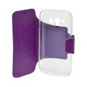 Book Case Ancus Classic for Samsung i8262D Galaxy Core Duos Purple