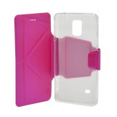 Book Case Ancus Classic for Samsung SM-N910F Galaxy Note 4 Fuchsia
