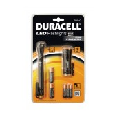 Led Flashlight Set 2 Pieces Duracell with Batteries AA 2 pcs + AAΑ 3 pcs