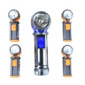 Flashlight Set 5 Pieces with swivel head