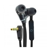 Hands Free Ancus Loop in-Earbud Stereo 3.5 mm for Apple-Samsung-HTC-Sony Black with Answer Button