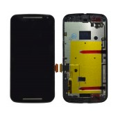 Original LCD with Digitizer for Motorola Moto G (2014) Black with Frame