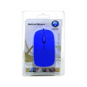 Mobilis 1200 Wired Mouse 3 Button Blue (113*57*20mm)