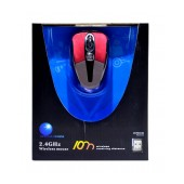 Wireless Colorful Mouse 3 Button 1600 DPI Red-Grey (86*50*25mm)