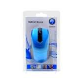 Mobilis 1307-8600 Wired Mouse 3 Button Black - Blue (102*58*33mm)