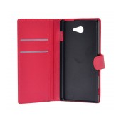 Book Case Ancus Teneo for Sony Xperia M2 Aqua Red
