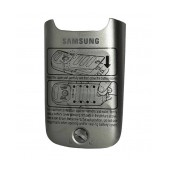 Battery Cover Samsung C3350 Solid Silver Original GH98-21643A